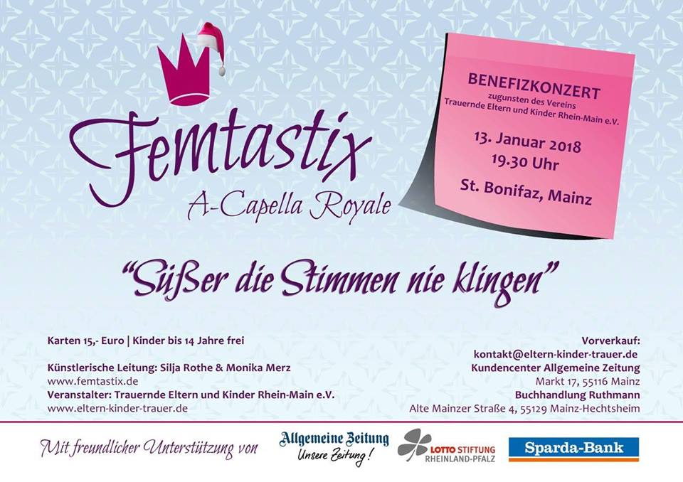 Benefizkonzert Femtastix am 13.1.2018
